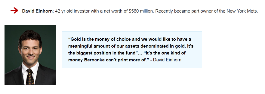 David Einhorn gold quote