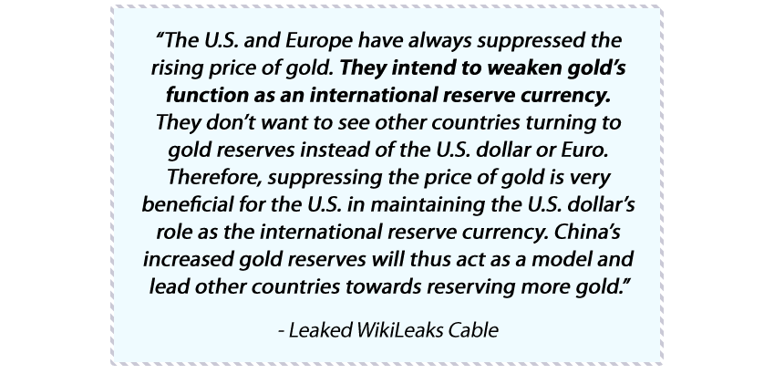 Wikileaks gold quote