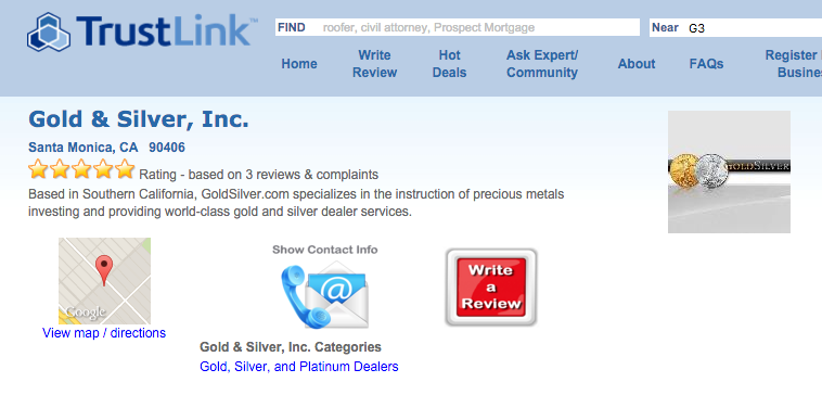 GoldSilver TrustLink screenshot