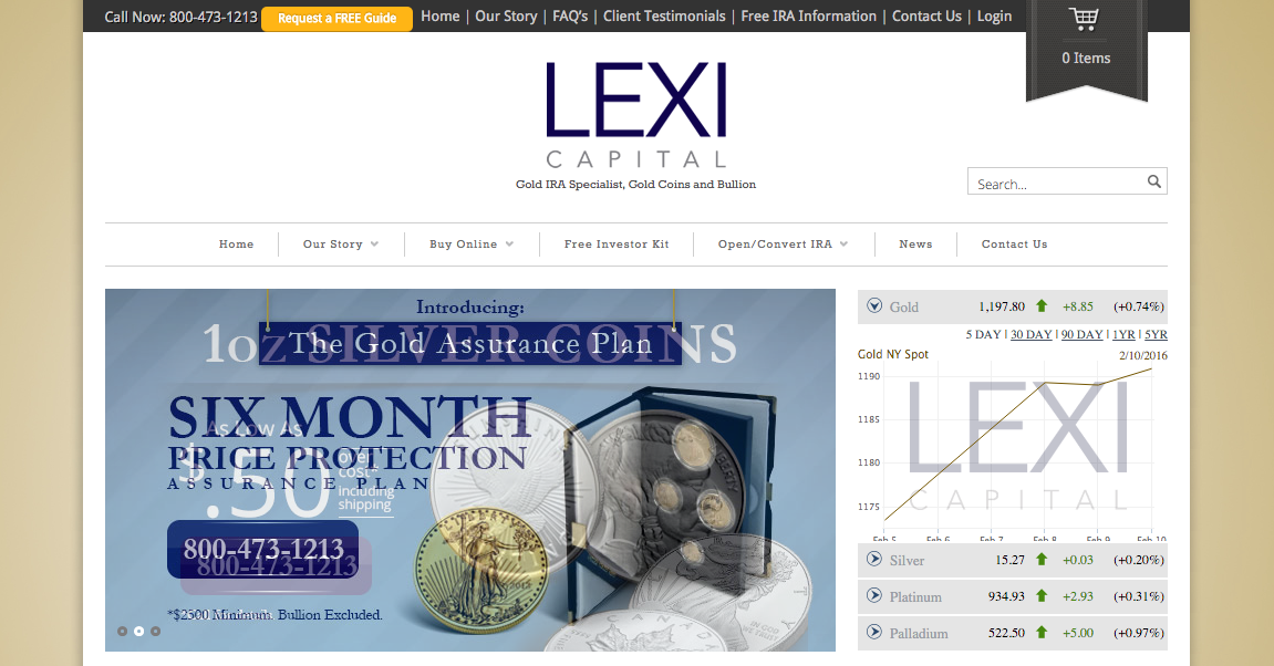 LEXI Capital website screenshot